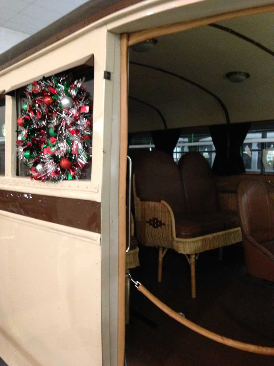Take a look at the wicker seats inside!