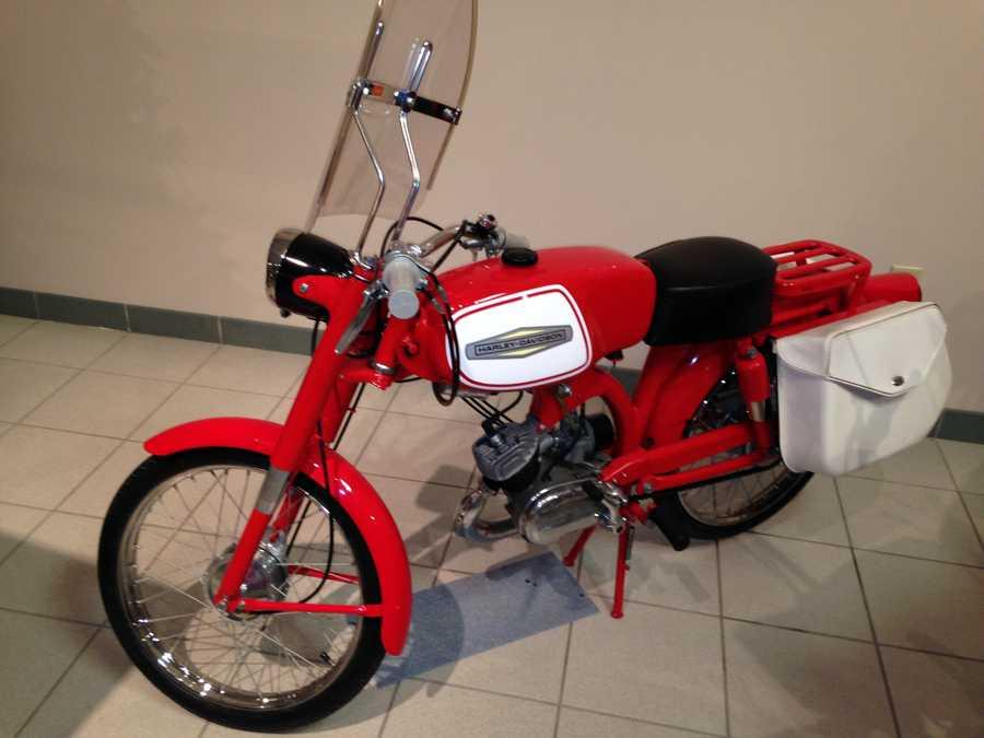 Here's a Harley Davidson motorbike.