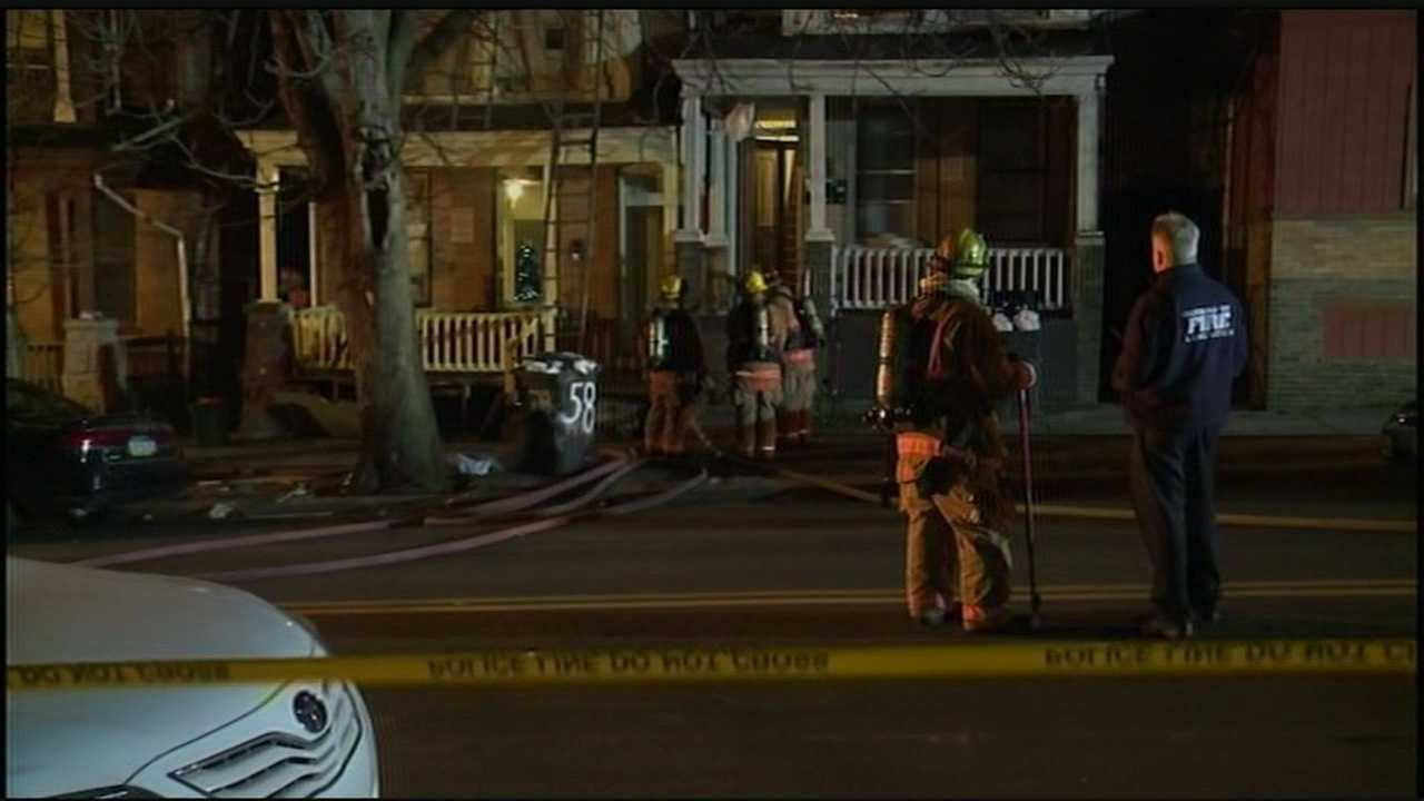 Firefighters are still on the scene of a gas explosion in an apartment on South Franklin Street in Lancaster City.