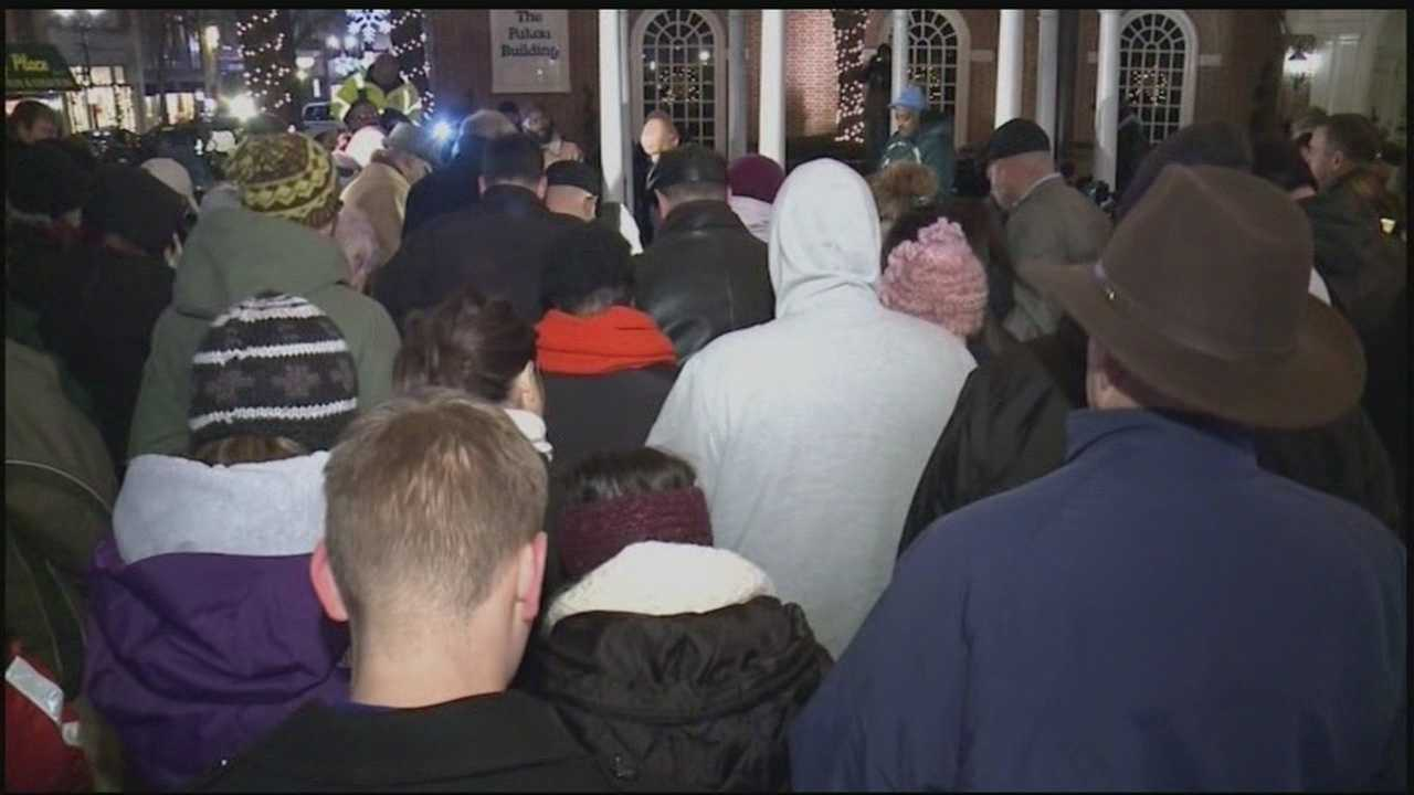 Lancaster City residents joined together Thursday to remember the victims of violence crimes.