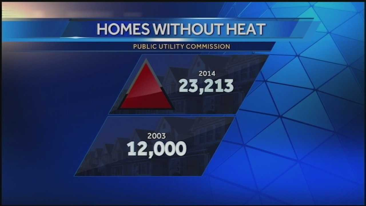 As the temperatures start to plunge this week, there's concern over the growing number of homes that'll be without heat this winter.