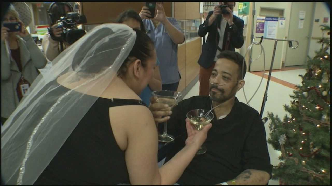 A Harrisburg couple got married Wednesday, something they have wanted to do for a long time.