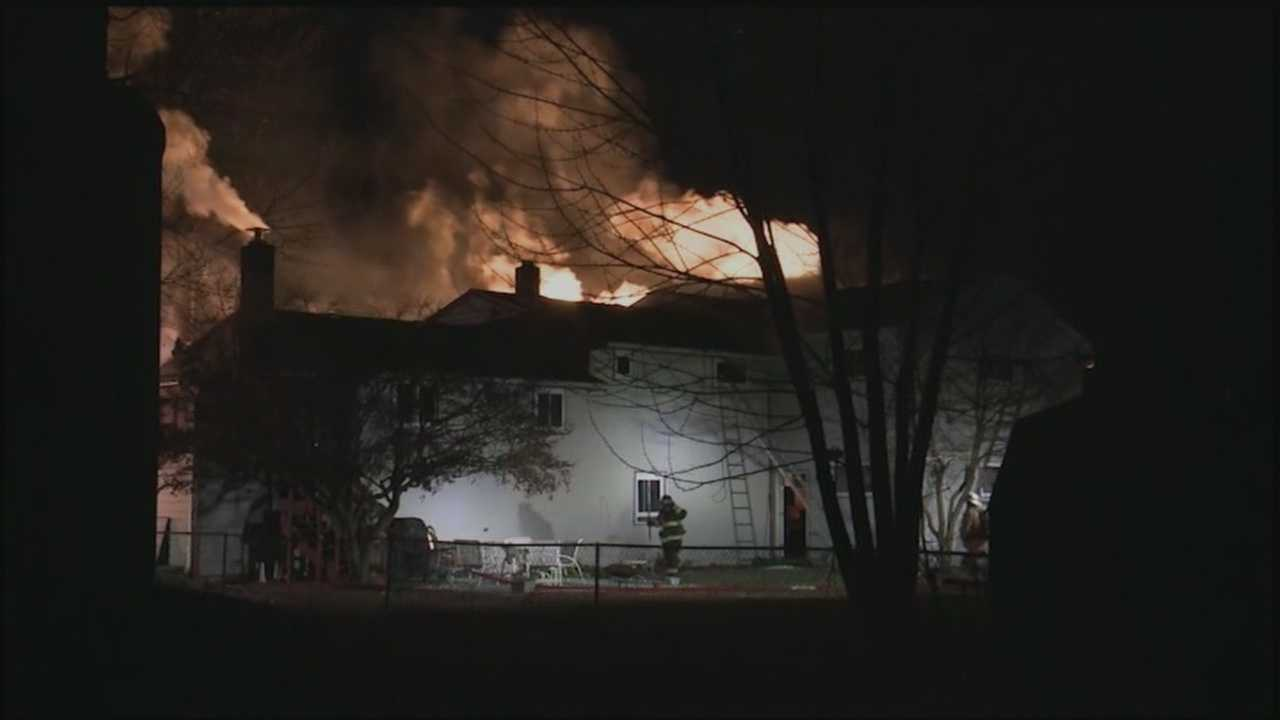 It's not yet clear what caused a Cumberland County fire on Wednesday night.