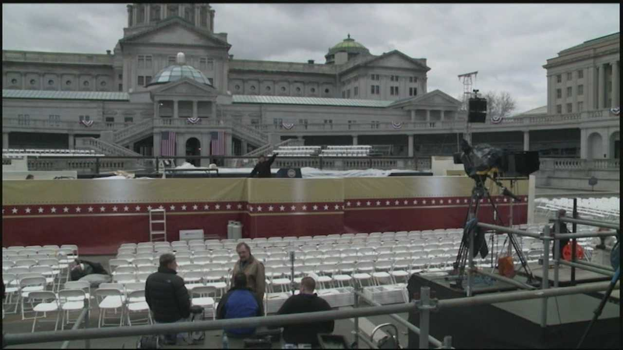 The swearing-in ceremony will begin at noon. News 8 will have live coverage beginning at 11:30 a.m.