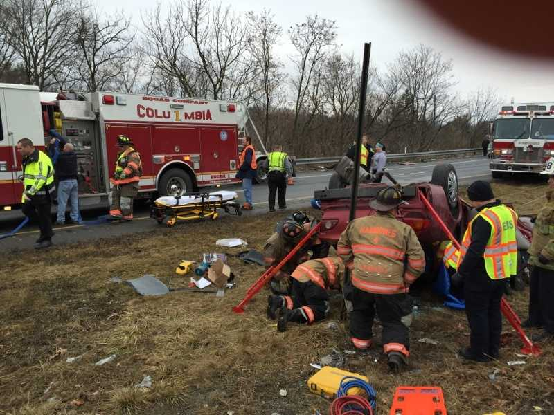 The people involved in the crash sustained non-life-threatening injuries.