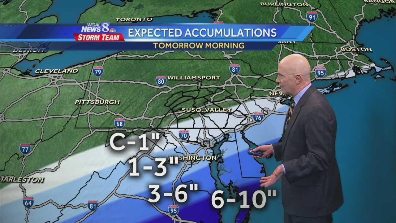 A bit of light snow or flurries are possible Thursday morning, especially south of the turnpike and southeast of I-81.