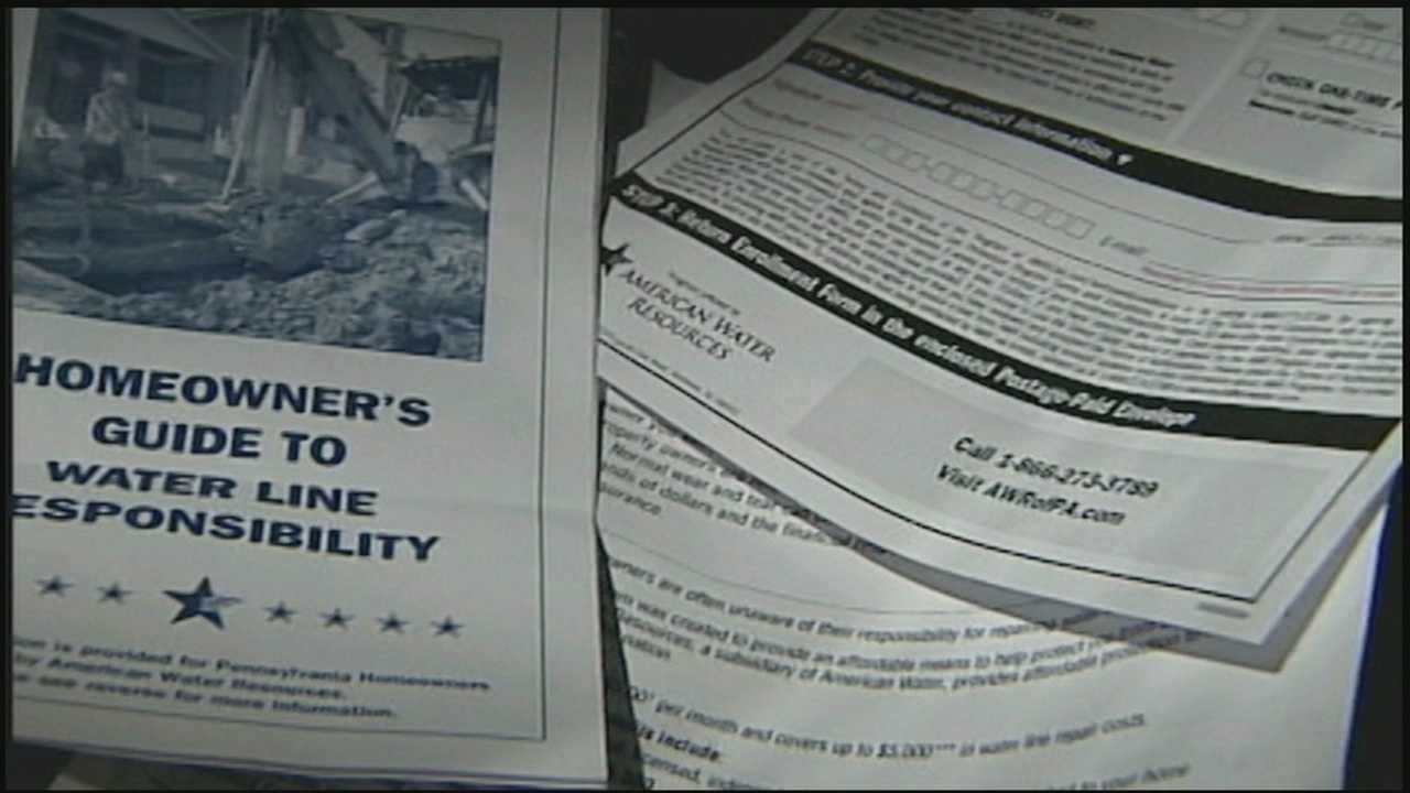 The News 8 On Your Side team has received a steady stream of questions from viewers about a piece of mail selling insurance for the water line that runs into your home.