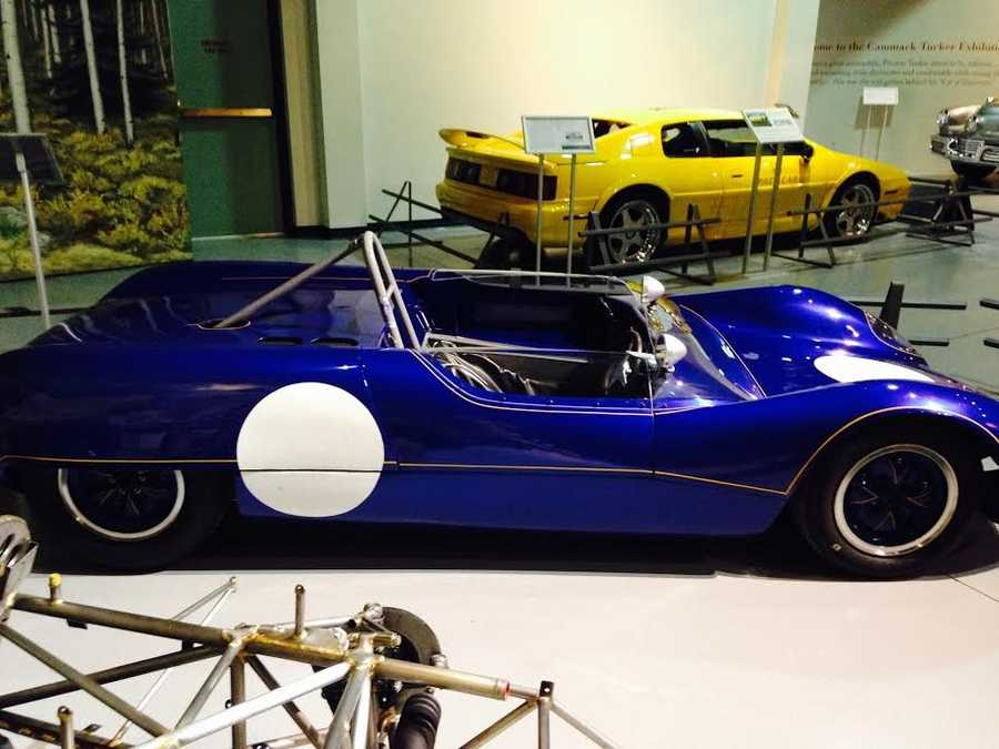 Pictured: 1965 Lotus Type 23B (You can see this car next to its frame in the next photo.)
