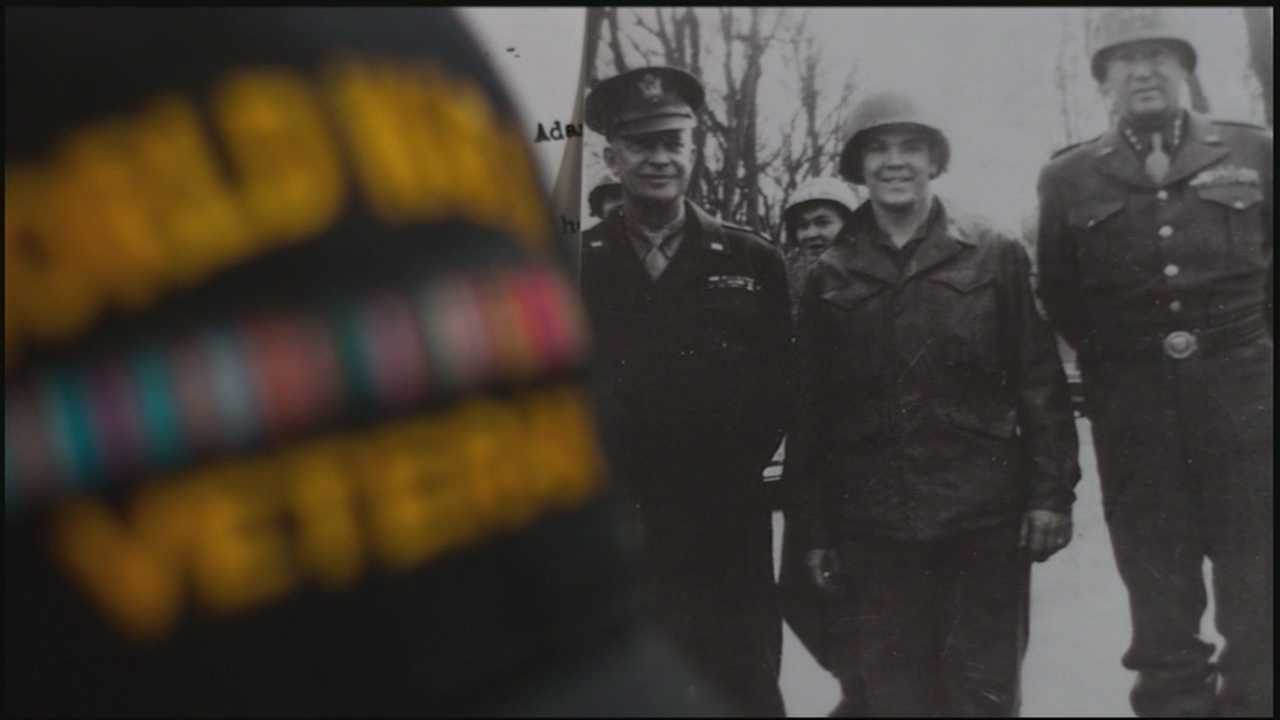 Jere Gish talks to a Lititz World War II veteran who came home with a one-of-a-kind momento.