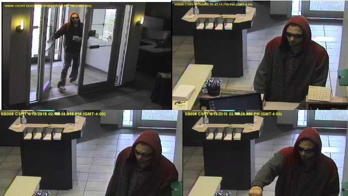 Police released these surveillance images of the robber.
