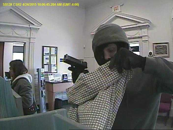 Police are searching for a man who robbed a Susquehanna Bank branch in York County on Friday.