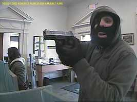 Authorities say the male suspect entered the bank, located at 1 South Main Street in East Prospect Borough, and pointed a two-tone semi-automatic handgun. They say he then demanded money from bank employees.