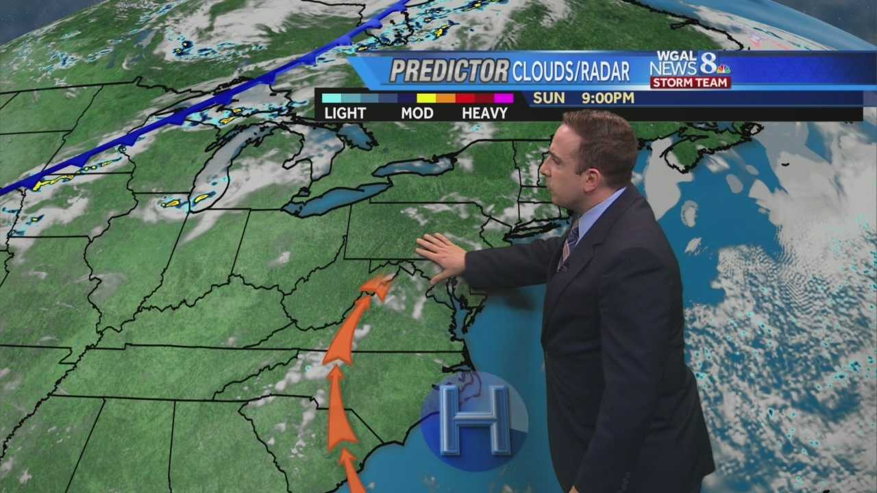 News 8 Storm Team Meteorologist Ethan Huston has the forecast featuring temperatures reaching into the 80s Monday.  Rain chances return Tuesday.