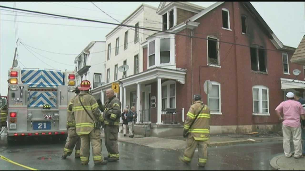 Fire damaged two apartments in a Lebanon building along the 400 block of New Street on Wednesday morning.