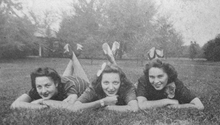 "Before she starred as Dorothy in the hit 1980s sitcom ""The Golden Girls,"" actress Bea Arthur attended school in the Susquehanna Valley. Check out these vintage and present-day photos of Linden Hall. [In this yearbook photo, Arthur poses with classmates on campus - the school could not confirm which girl is Arthur.]"