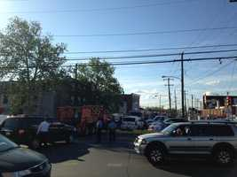 News 8's Mike Straub reports that emergency vehicles continue to go in-and-out of the derailment site in Philly.