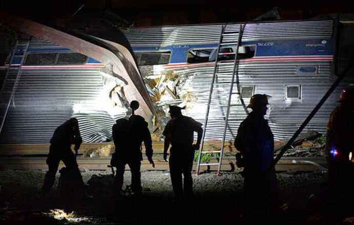 Officials say it was rounding a curve when the train jumped the track.