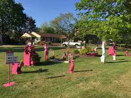 Are these lawn ornaments an eyesore? A Lancaster County man's artistic expression is being called disturbing by some of his neighbors.