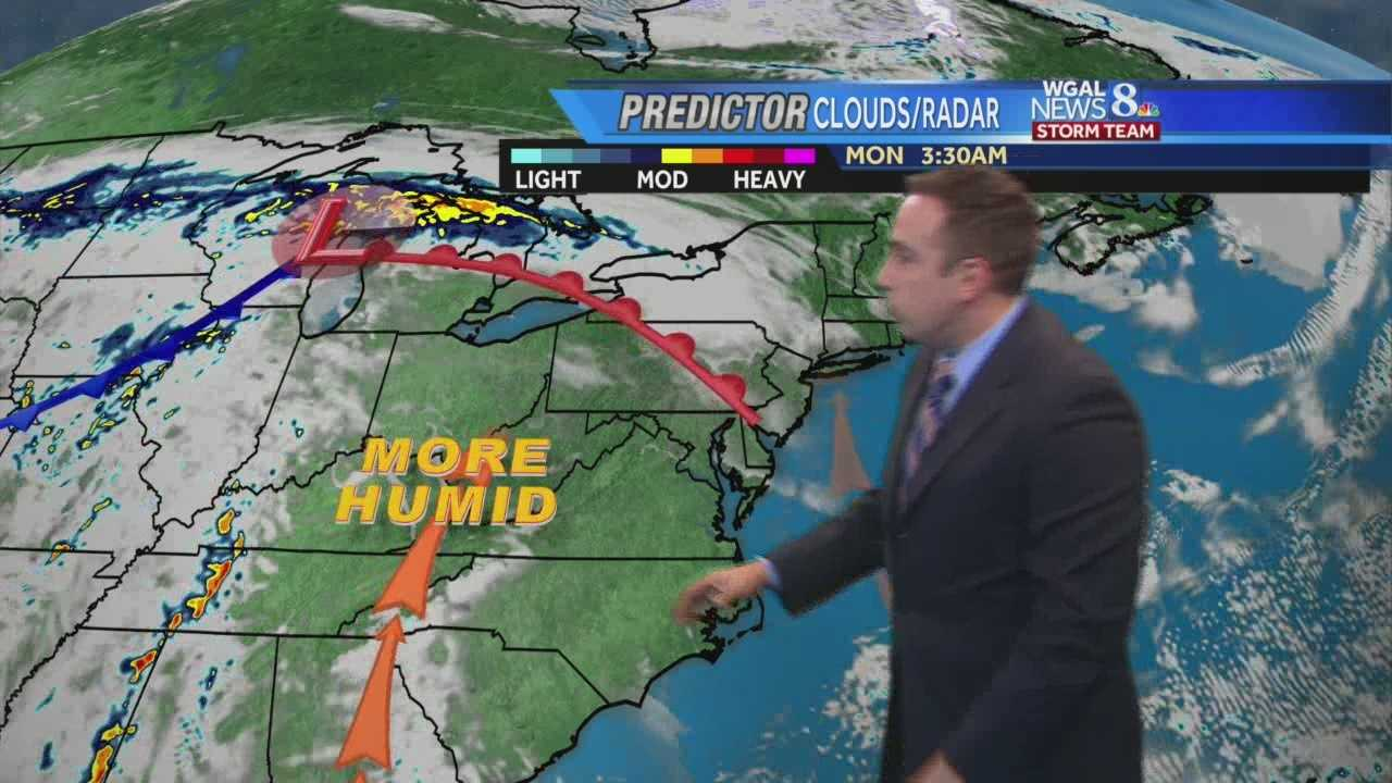 News 8 Storm Team Meteorologist Ethan Huston has the Memorial Day forecast featuring an increase in humidity and rise in temperatures.