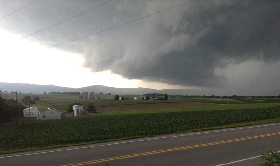 Severe storms swept through the Susquehanna Valley on Monday. Check out these photos from News 8 viewers. Here's a scene from Berrysburg, Dauphin County.