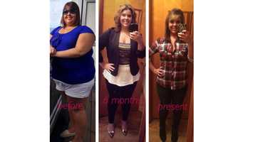 Before and After: Ashley James of Chambersburg, Franklin County, has come a long way in her weight loss journey and she says it all started with a goal and a fitness app. Now 26-years-old, she has lost over 130 pounds.