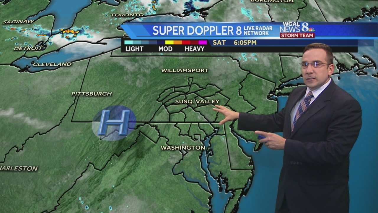 News 8 Storm Team Meteorologist Ethan Huston has the forecast featuring warm and sticky conditions for the end of the weekend along with chances for scattered showers and thunderstorms.