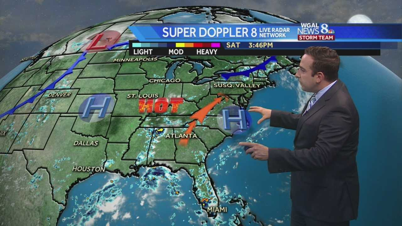 Building High Pressure Ridge will Bring a Heat Wave to the Susquehanna Valley for the Week.