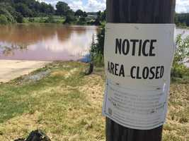 Heavy rainfall has led officials to close Speedwell Forge Lake in Lancaster County.