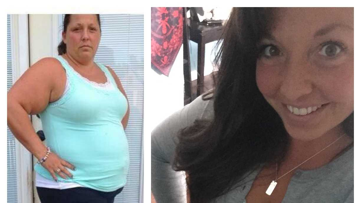 "Before and After: Rachel Greenholt of McSherrystown, Adams County, lost 103 pounds through a ""clean eating"" lifestyle change."
