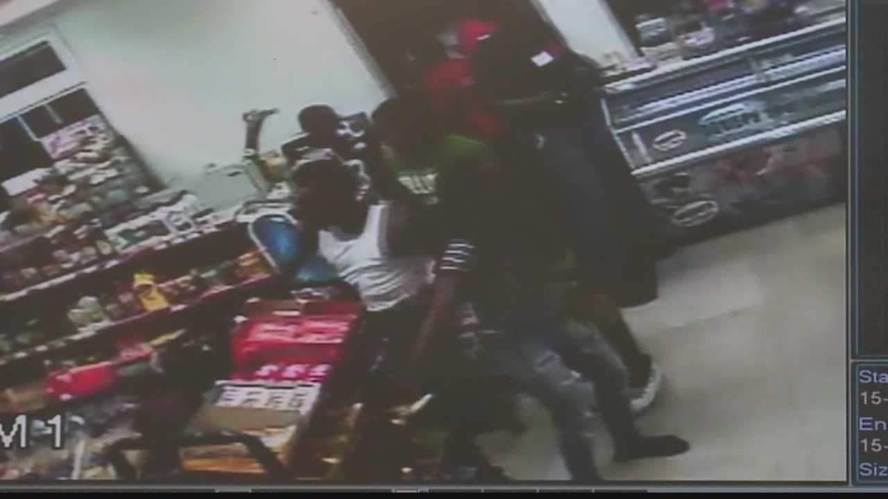 Police are looking for the teens who burst into a Harrisburg store, vandalizing and stealing.