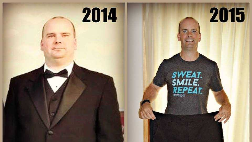 Before and After: Meet Bryan Hoover of Harrisburg. He lost 70 pounds! He even has plans to run a marathon this November.