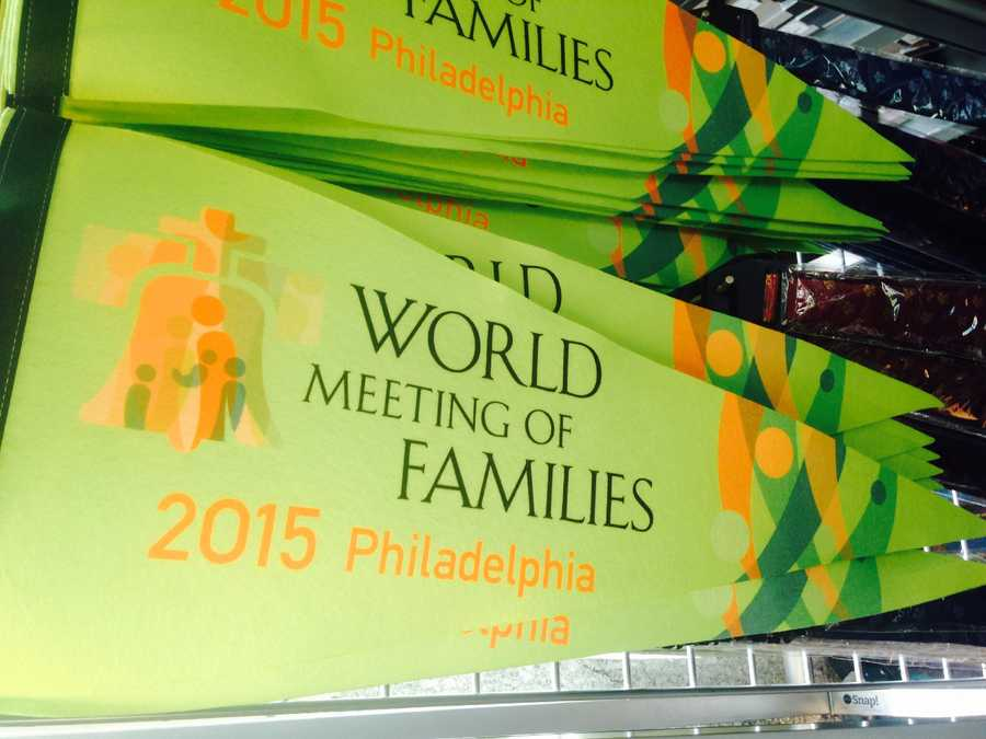 """World Meeting of Families"" flag: $15"