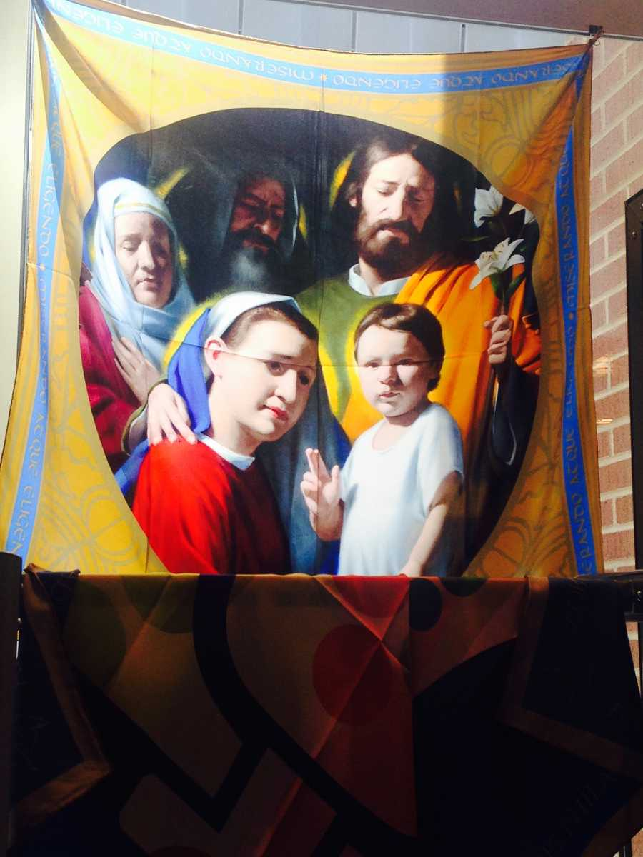 "Banner of the ""Holy Family"": $50"