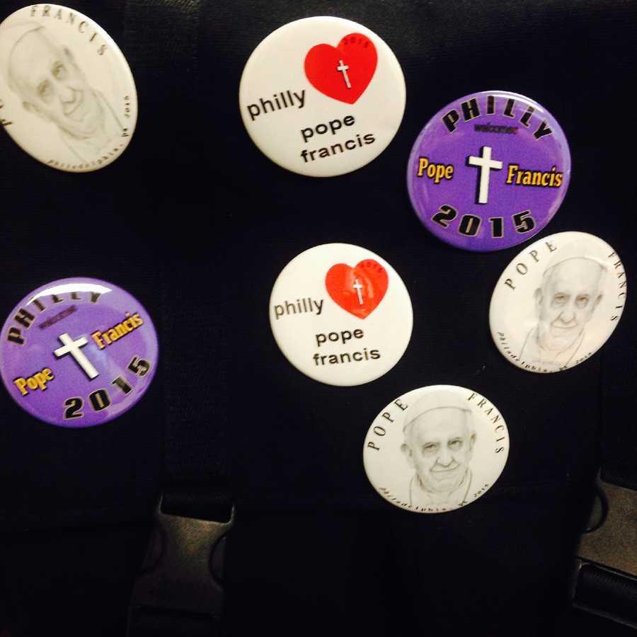 Papal pins: $5