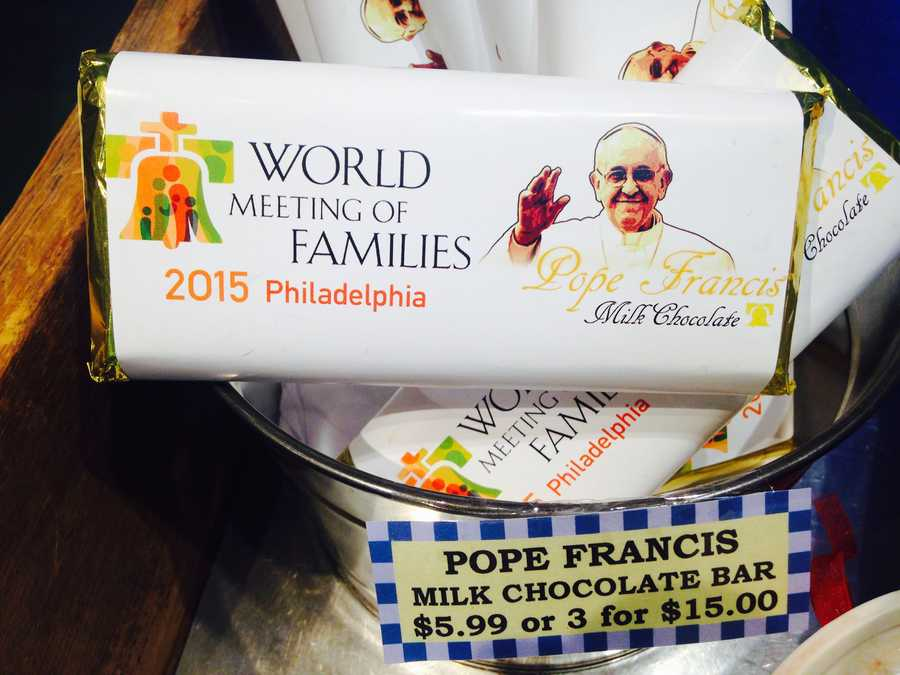 There was even pope-themed chocolate!