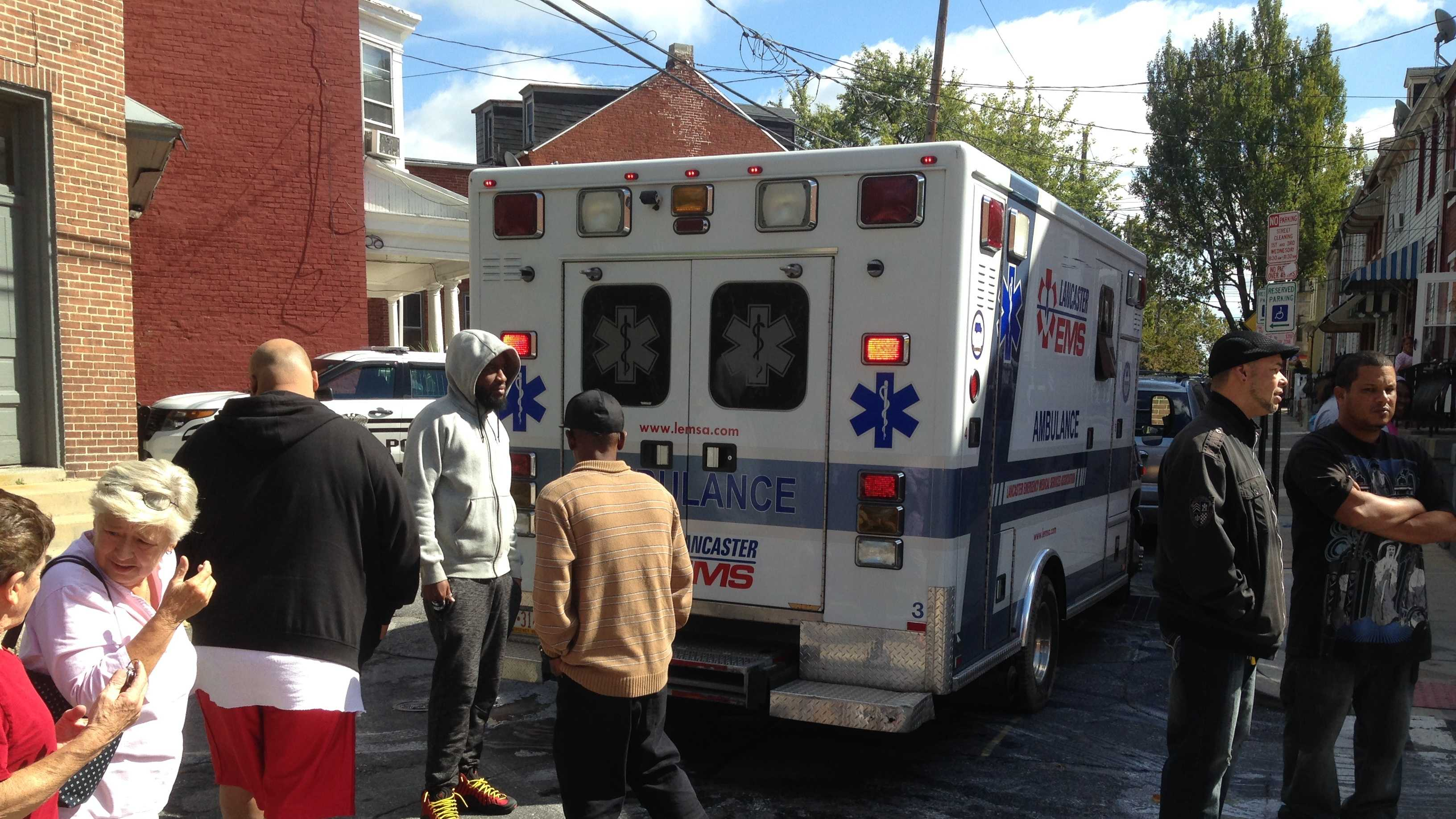 The stabbing happened around 12:30 p.m. on Monday, Oct. 5.