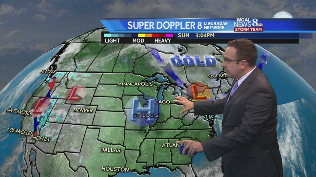 News 8 Storm Team Meteorologist Ethan Huston breaks down the forecast featuring near-record cold temperatures Sunday night.