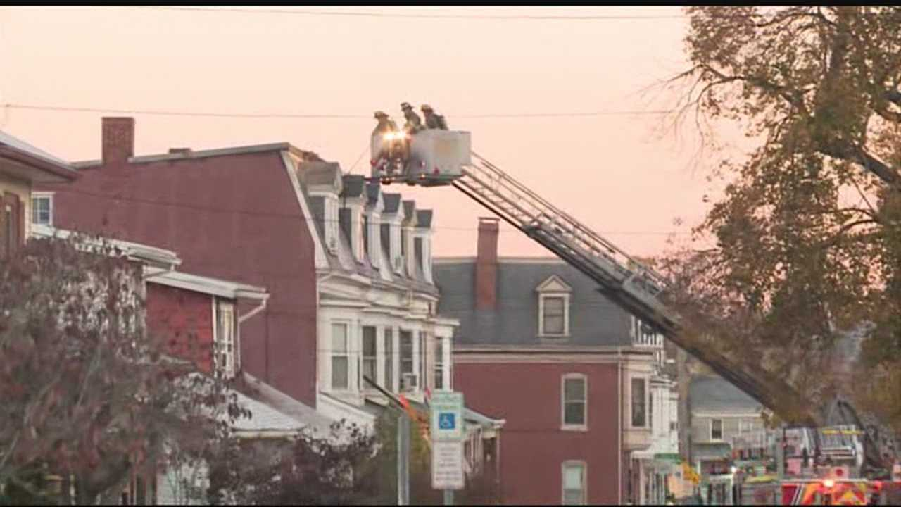 Fire damages several homes in York early Monday morning.