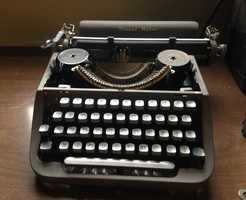 Was this typewriter used for office work or productions? You decide.