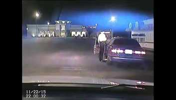The incident happened on Sunday, Nov. 22, in the parking lot of the Crossroads Shopping Center in Manchester Township and was caught on a dash cam.