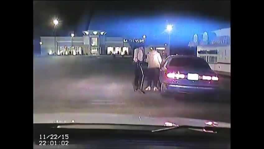 The video, which contains audio, shows Anderson asking Jackson for his license. Moments later, he asks him to step out of the vehicle.