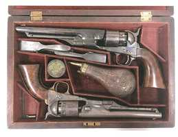 Take a look at these guns stolen from the Civil War Museum. Police are trying to track down a suspect after the historic weapons were stolen on Valentine's Day.