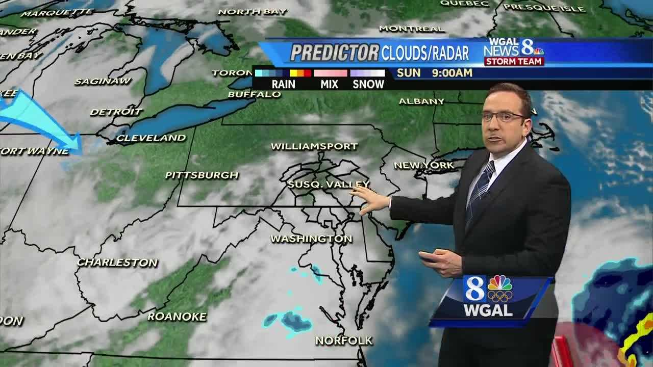 "News 8 Storm Team Meteorologist Ethan Huston breaks down the forecast featuring the return of light snow showers which could produce a light coating to isolated spots receiving 1"" of snow."