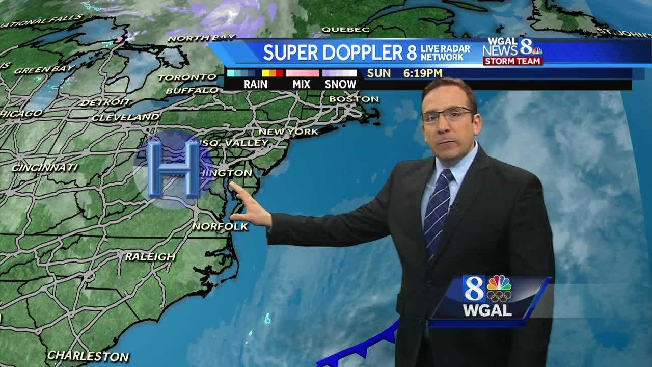 News 8 Storm Team Meteorologist Ethan Huston has the forecast with a series of unseasonably warm and dry days to star the work week.
