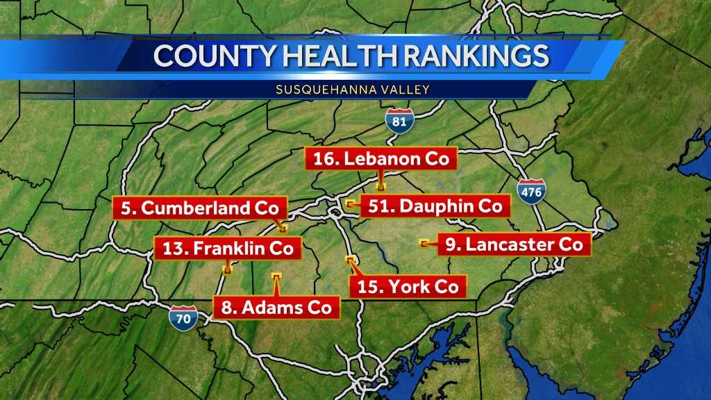 Dauphin County gets bad health report&#x3B; Where does your county rank?