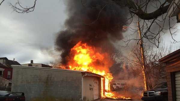 York Garage Fire Pic