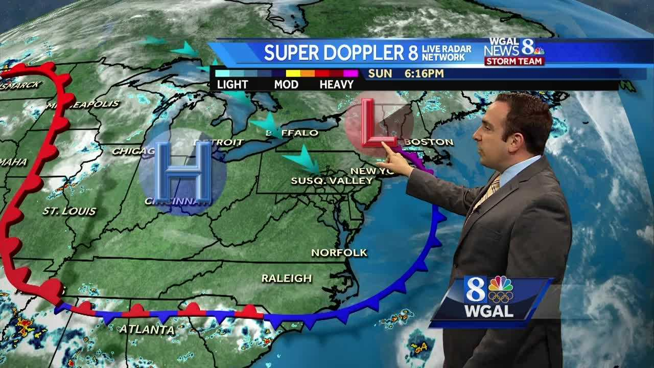 Meteorologist Ethan Huston says another heat wave is possible this work week with more opportunities for scattered showers and thunderstorms.