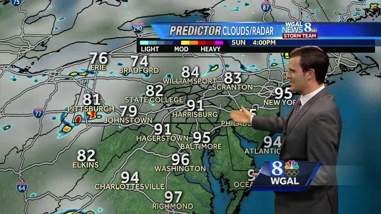 Stifling heat and humidity again to end the weekend