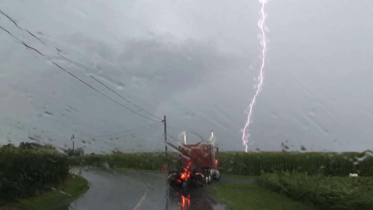 News 8 Crew Photo: Lightning in Lebanon County