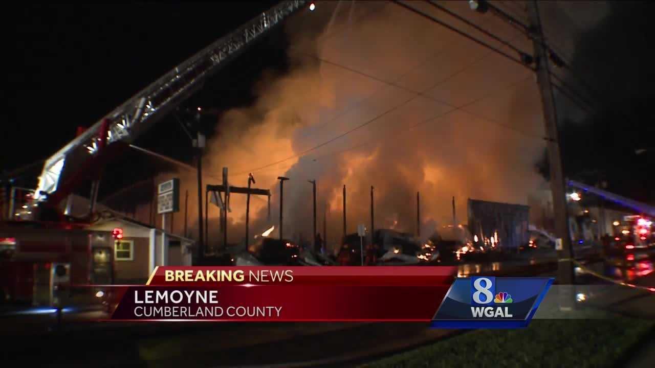 9.13.16 Huge fire devastates lumberyard